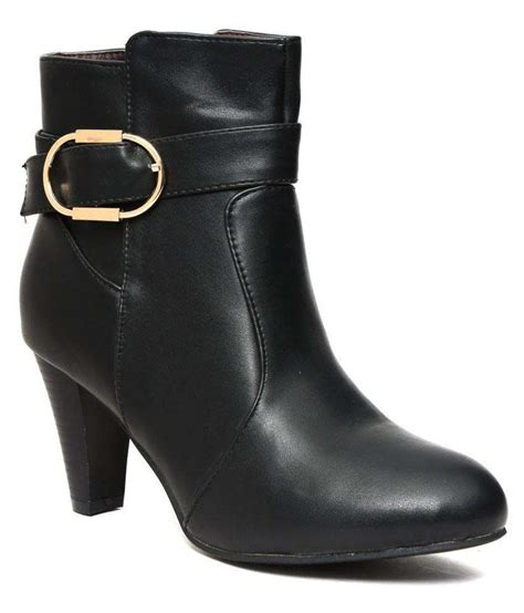 tanny shoes black ankle length bootie boots price in india