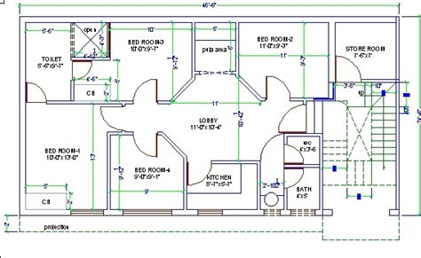 autocad house plan tutorial 4 bed room house design autocad 3d cad model grabcad