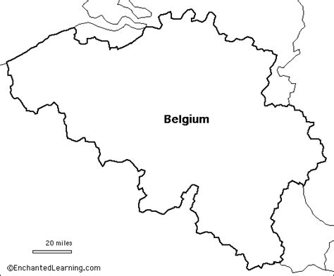 belgium map coloring page outline map belgium enchantedlearning com