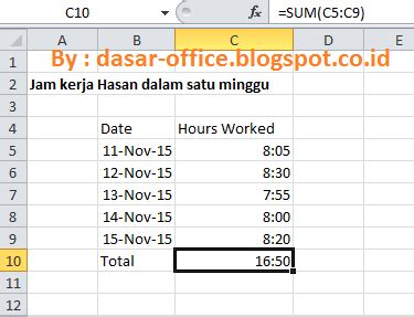 format jam di excel cara menilkan waktu yang melebihi 24 jam di ms excel