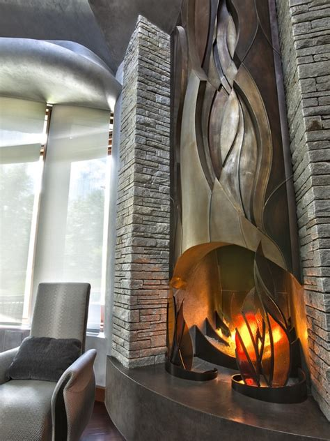 ultra modern fireplaces 1000 images about fireplaces on design