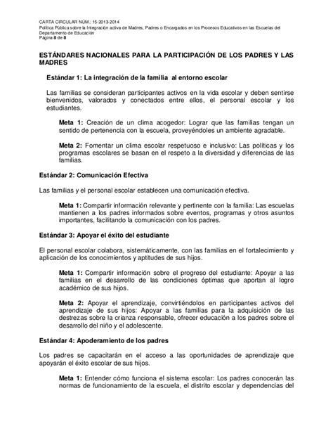 carta circular 15 2013 2014 padres o encargados carta circular 15 2013 2014 padres o encargados
