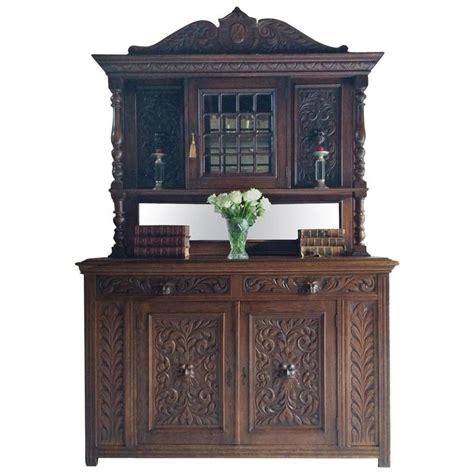 Green Antique Dresser by Antique Dresser Oak Green Carved 19th