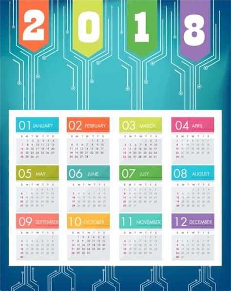 graphic design calendar wallpaper 2018 calendar background blue modern decor technology
