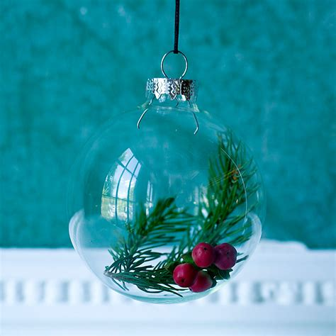 100mm clearfillable bauble fillable glass ornament terrain