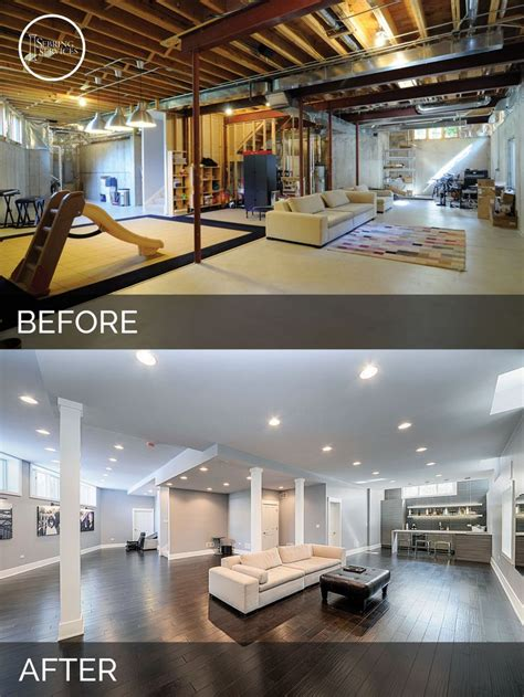 home design before and after basement remodels before and after home design ideas