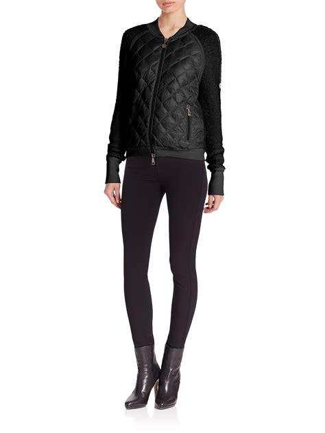 Nerina Black Bomber Jacket moncler quilted bomber jacket in black lyst