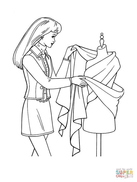 elegant barbie coloring pages designing a dress coloring page free printable coloring