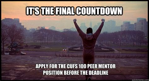 Its The Countdown by It S The Countdown Apply For The Cufs 100 Peer