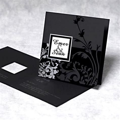 black and white wedding invitation designs the uniqueness of black wedding invitation cards wedwebtalks