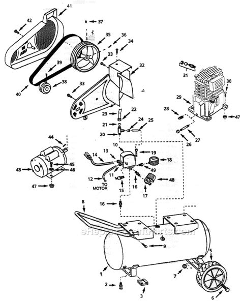 cbell hausfeld vt629000 parts list and diagram ereplacementparts