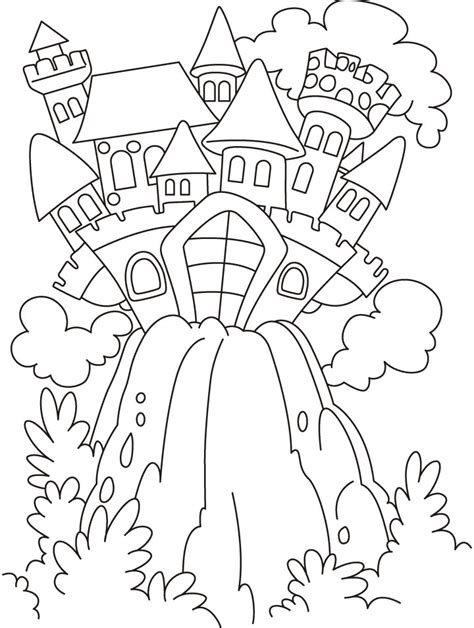 grimm tales coloring book different seasons castle coloring pages free castle