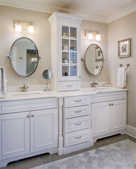 sink vanity with middle tower 25 best ideas about oval bathroom mirror on