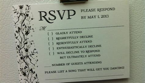 best wedding rsvp site photo this is the best wedding rsvp card we ve seen plus 31 other options for rsvp
