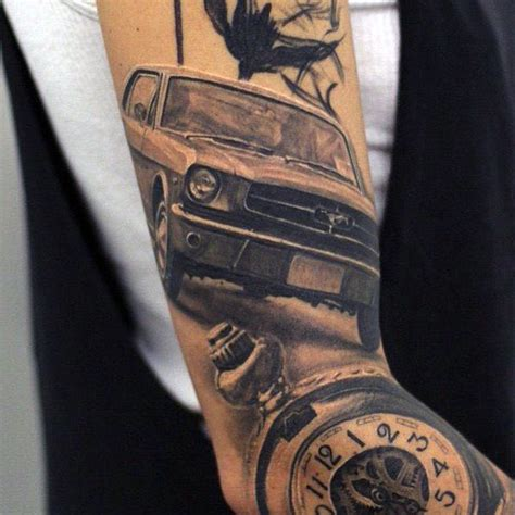 ford mustang tattoo 40 mustang designs for sports car ink ideas