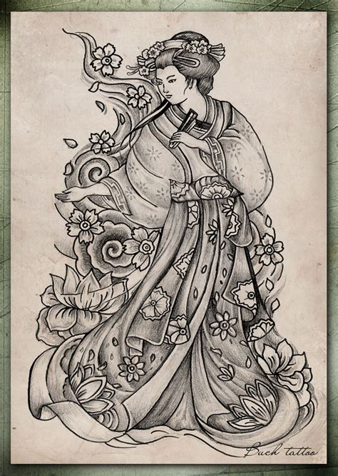 geisha tattoo design cool zone cool japanese geisha designs gallery
