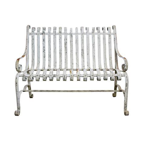 garden bench cast iron cast iron garden bench chairish