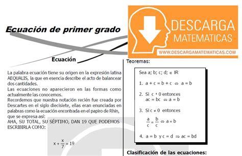 texto de matematica para primer grado de secundaria 2016 peru descargar ecuaciones de primer grado tercero de