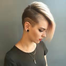 hair cut shorter on sides than back best 10 women s shaved hairstyles ideas on pinterest