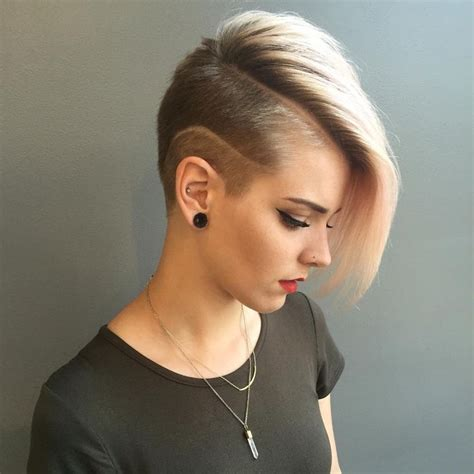 how to cut female hair with short sides and long top best 25 shaved hairstyles ideas on pinterest shaved