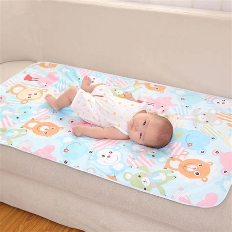 Toddler Changing Mat by Cotton 3 Layers Baby Waterproof Mat Large Baby