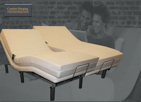 deluxe electric adjustable bed and memory foam mattress ebay