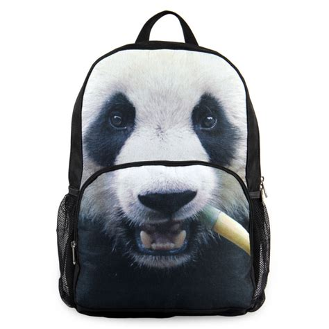 Backpack 4 In 1 Panda Panda Designer High School Backpack Personalized 3d Animal