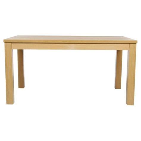 Oak Effect Dining Table Buy Genoa 4 6 Seat Dining Table Oak Effect From Our Dining Tables Range Tesco