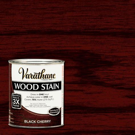 varathane 1 qt 3x black cherry premium wood stain of 2 266165 the home depot