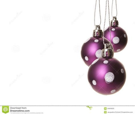christmas baubles purple stock photo image 34849920