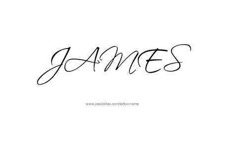 tattoo name james james name tattoo designs