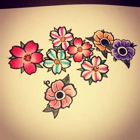 70 traditional school flower tattoos golfian