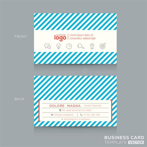 trendy business cards templates trendy business card design template stock vector image