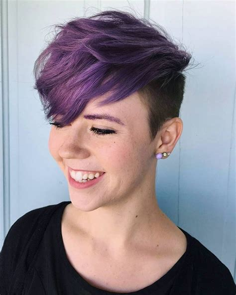 colored undercut best 25 dyed pixie cut ideas on purple pixie