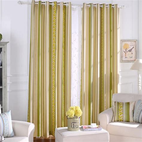 striped bedroom curtains yellow striped jacquard poly cotton blend contemporary