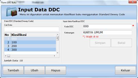 desain database aplikasi perpustakaan klasifikasi buku dengan software perpustakaan genlib