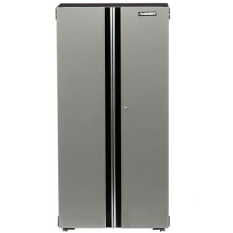 husky 36 in steel floor cabinet 36fc01bp thd the home depot