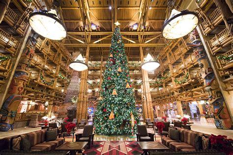 christmas trees at the resorts of walt disney world