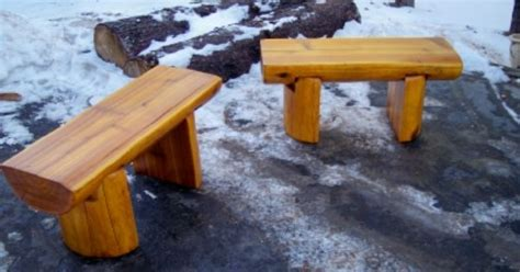 log bench legs half log top and legs bench coffee table log furniture