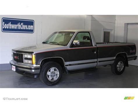 1993 silver metallic gmc 1500 sle regular cab 4x4 17968166 gtcarlot car color