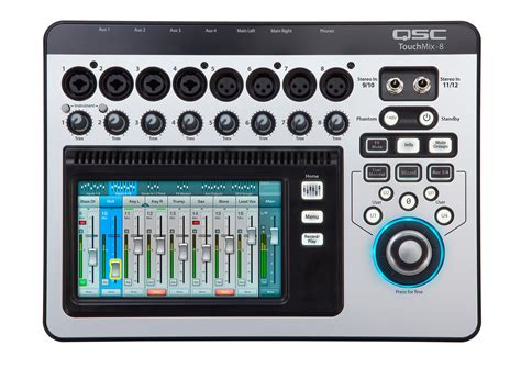 Mixer Digital Qsc qsc touchmix 8 12 channel digital audio mixer with 4 mic 4 mic line inputs