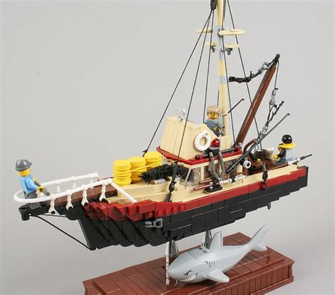 lego boat myer orca from jaws lego pinterest