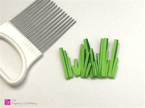 quilling grass tutorial simple quilling paper grass the papery craftery