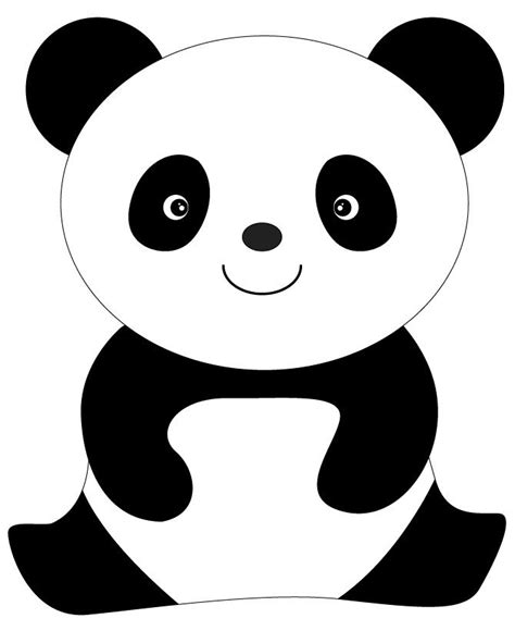 panda template animal panda coloring pages coloring pages