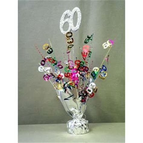 60th birthday decorations party favors ideas