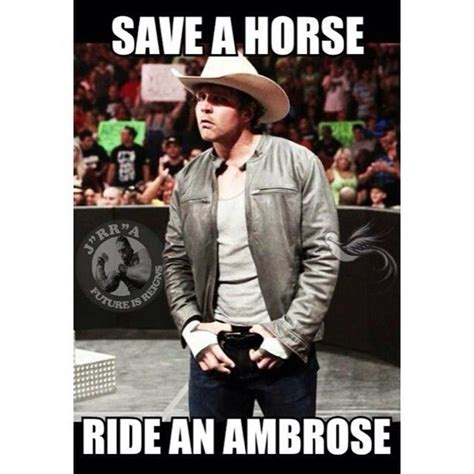 Save A Horse Ride A Cowboy Meme - 399 best dean ambrose images on pinterest wwe couples