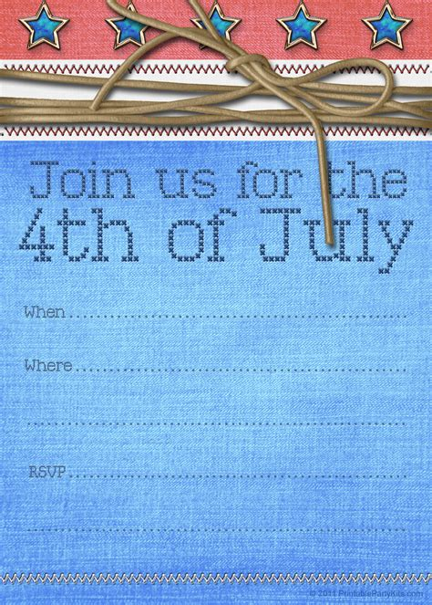 9 best images of july 4th party invitation printable free