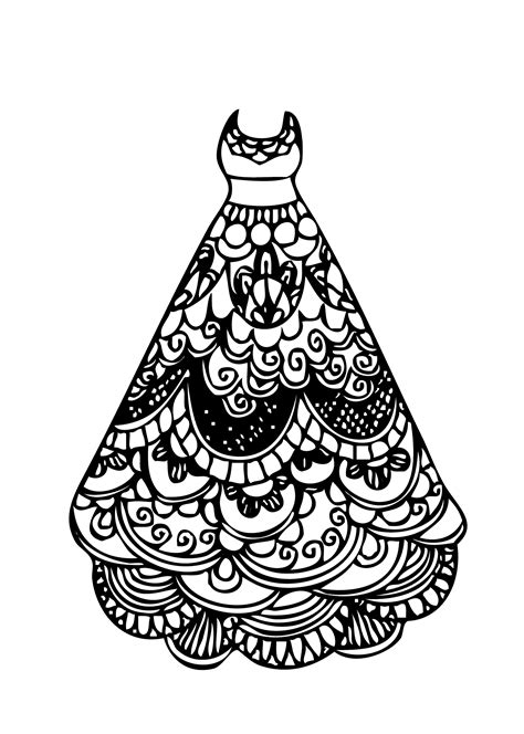 Coloring Page Dress by Dress Coloring Pages Bestofcoloring