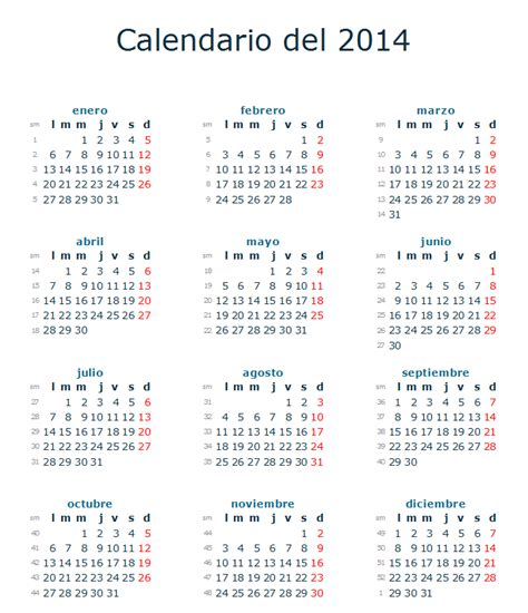 Calendario 2017 España Para Imprimir Calendario Festivos Espa 241 A 2014 Fiestas Nacionales