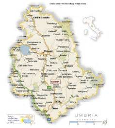 Umbria Italy Map by Detailed Map Of Umbria Italy Travel Holiday Map